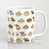 cupcakes Mugs featuring Cupcakes by Jeanne Bornet