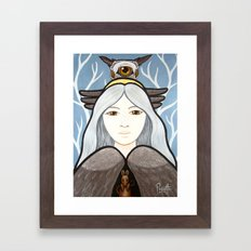 Ohow - Owl Framed Art Print