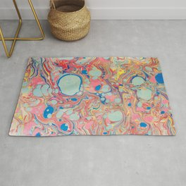 Bubblegum Candy Colors Jawbreaker Layers Pour painting Liquid Colors Funky Psychedelic Lava Lamp Rug