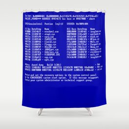 Bluescreen Shower Curtain