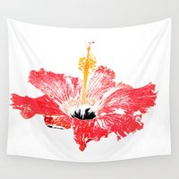 hibiscus Wall Tapestries featuring Hibiscus by Regan's World