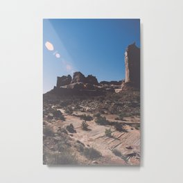 Hiking path in Arches National Park Metal Print