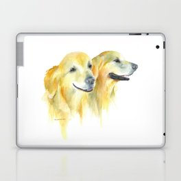 Harold and Daphne - golden retriever 2 Laptop & iPad Skin