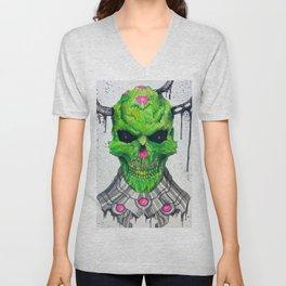 Brainiac Skull Unisex V-Neck
