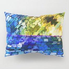 CobbleStone in Blue Oil Pillow Sham