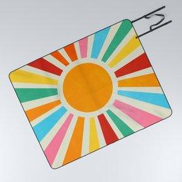Retro Sunrise: Rainbow Edition Picnic Blanket
