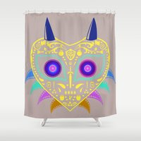 majora Shower Curtains featuring Dia de los Majora - Legend of Zelda by Katie Halliday