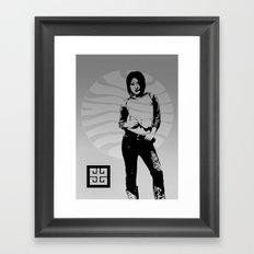 jean ad 4 Framed Art Print