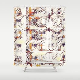 Homage to Kandinsky, with Watercolors Shower Curtain