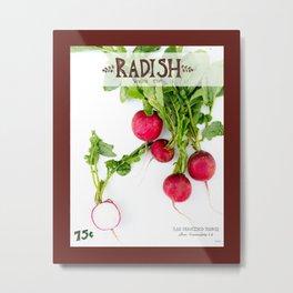 Radish Metal Print