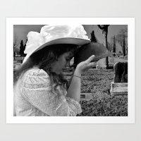 Gilded Memorial Black and White Art Print