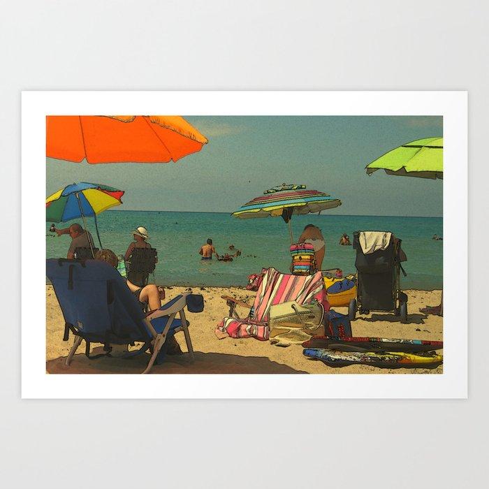 The Green Umbrella Art Print