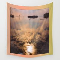 mandela Wall Tapestries featuring spring reflection by LEEMARIE