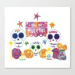 Dia de Muertos / Day of the Dead Canvas Print