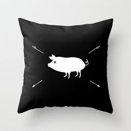 Lovely pig Throw Pillow