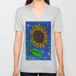 Boo's Sunflower Unisex V-Neck