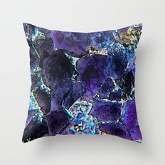 AMETHYST ABSTRACT Throw Pillow