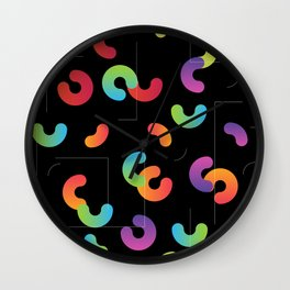 Funny color design. Arcs and Lines #2 Wall Clock