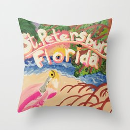In the Mangroves Throw Pillow