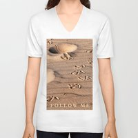 dune V-neck T-shirts featuring SAND DUNE  by CAPTAINSILVA