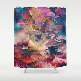 Glitch like that Shower Curtain