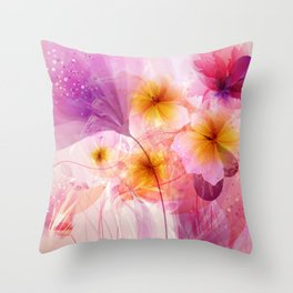 Electric Love Throw Pillow