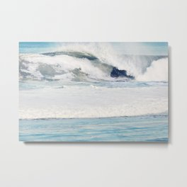 Falling Ocean Waves Metal Print