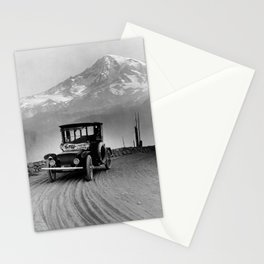 Vintage Electric Car and Mt. Rainier - 1919 Stationery Cards
