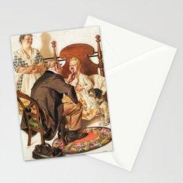 12,000pixel-500dpi - Joseph Christian Leyendecker - Hospital Bed - Digital Remastered Edition Stationery Cards