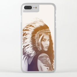 Tribal Girl, Photography Clear iPhone Case