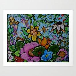 Fairy Garden in Spring Art Print