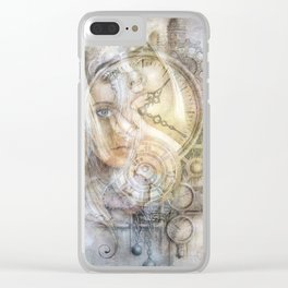 As Time Slips By Clear iPhone Case