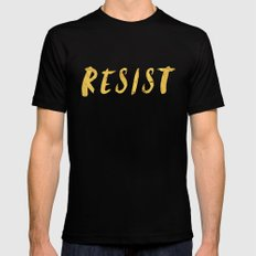 RESIST 6.0 - Freedom Gold on Navy #resistance Mens Fitted Tee Black 2X-LARGE