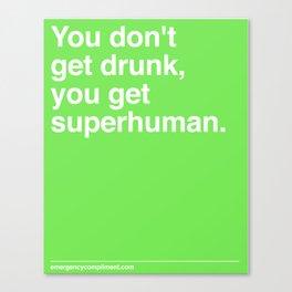 Superhuman Canvas Print