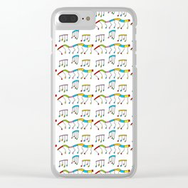 Colors and music--music,melody,fun,pleasure, rhythm, dance, art,sound,pitch,harmony,musical Clear iPhone Case