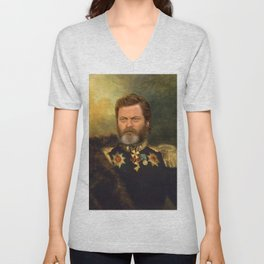 Nick Offerman Classical Painting Photoshop Unisex V-Neck