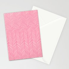 Freeform Arrows in lipstick Stationery Cards