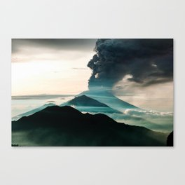 Mount Agung Volcanic Eruption Canvas Print