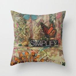 Simplify Throw Pillow