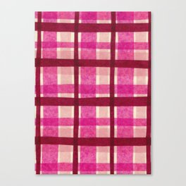 Tissue Paper Plaid - Pink Canvas Print