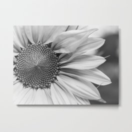 The Flower (Black and White) Metal Print