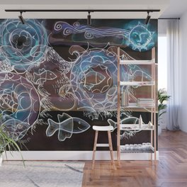 Life on the Earth at Night Wall Mural