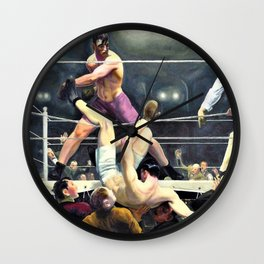 George Wesley Bellows - Dempsey And Firpo - Digital Remastered Edition Wall Clock