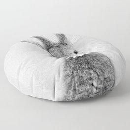 Rabbit - Black & White Floor Pillow