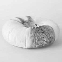 Rabbit - Black & White Floor Pillow