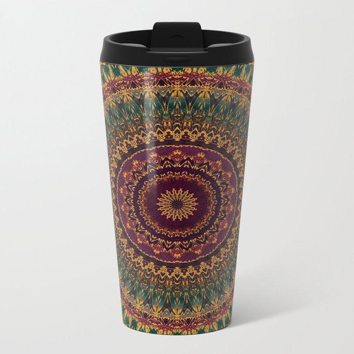 Mandala 220 Metal Travel Mug