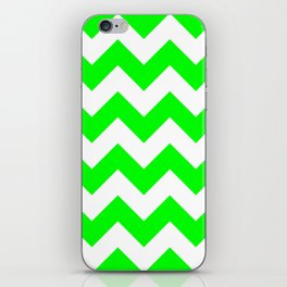 Lime Chevron iPhone Skin
