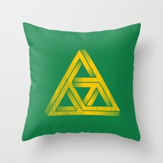 Penrose Triforce Throw Pillow