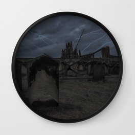 Whitby Abbey darkness Wall Clock