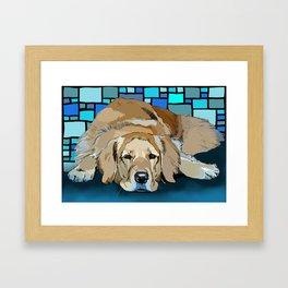 Honey, the Golden Retiever Framed Art Print